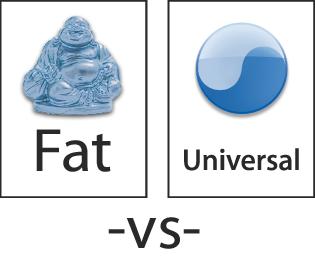 Fat -vs- Universal logos